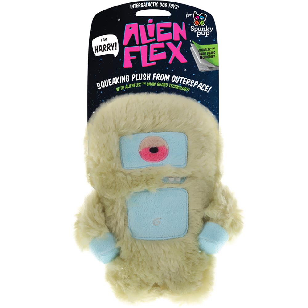 Spunky Pup Alien Flex Plush Toy - Harry