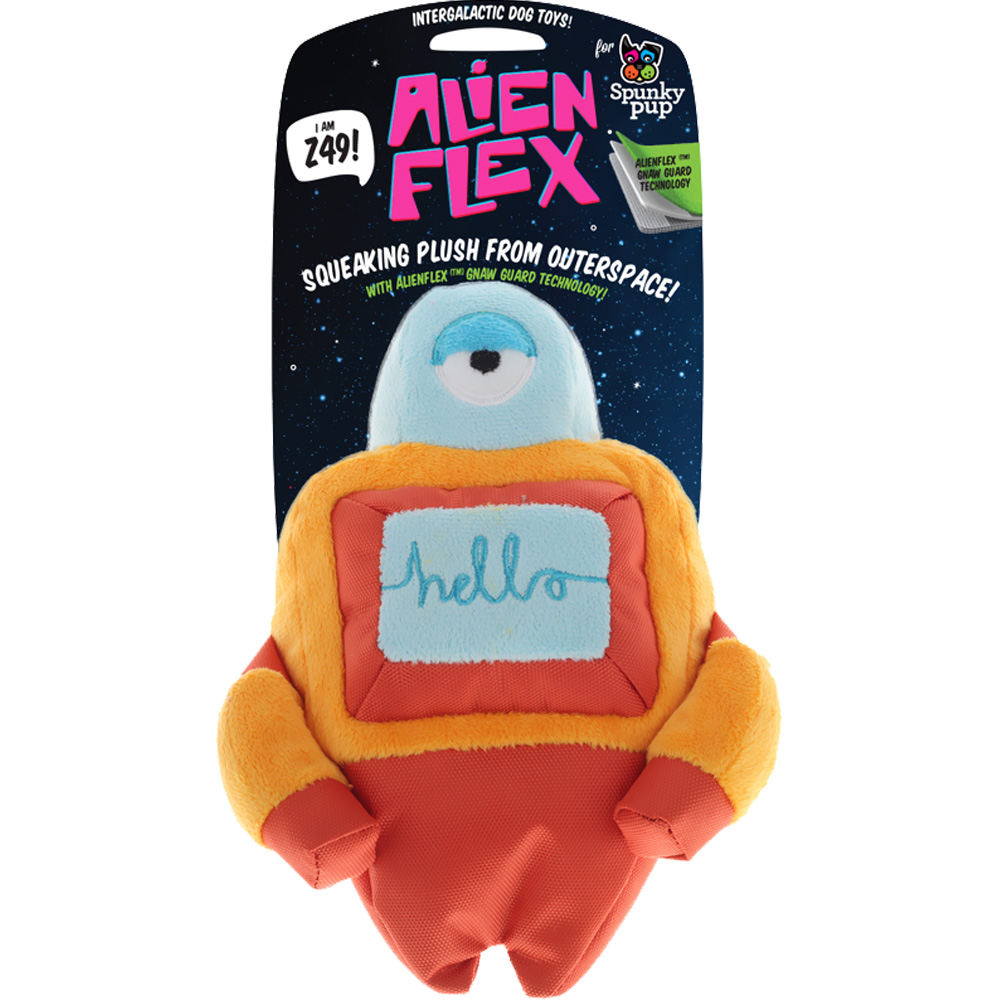 Spunky Pup Alien Flex Plush Toy - Z49