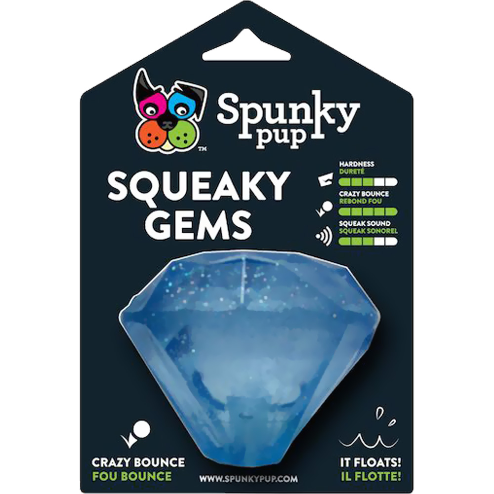 Spunky Pup Squeaky Gems Diamond Toy