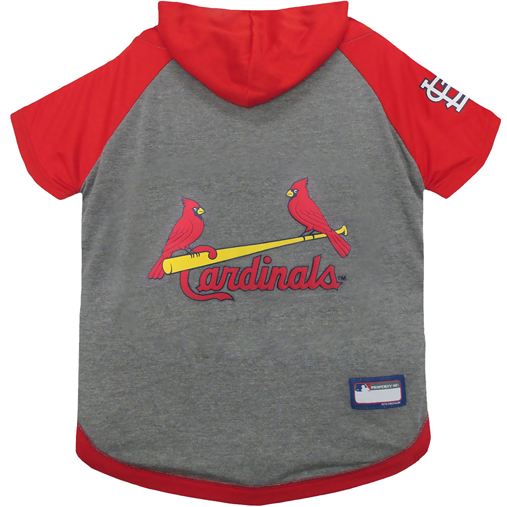 St. Louis Cardinals Dog Hoody Tee Shirt - XSmall