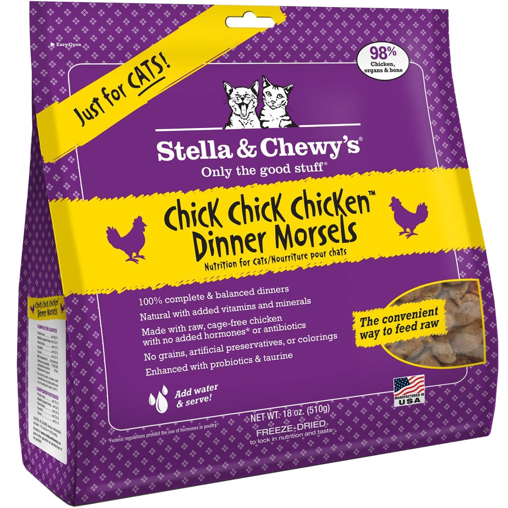 Stella & Chewy's Freeze-Dried Chick, Chick, Chicken Dinner Morsels for Cats (18 oz)