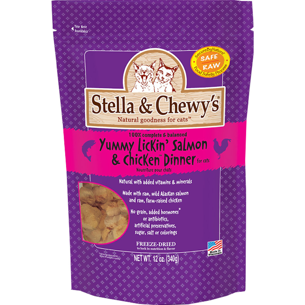 Stella & Chewy's Freeze-Dried Yummy Lickin' Salmon & Chicken Dinner for Cats (12 oz)