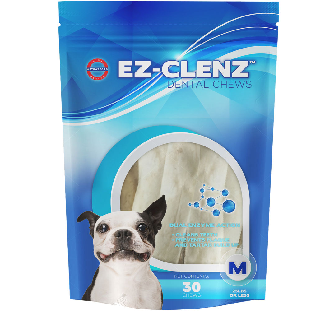 Stratford EZ-Clenz Dental Chews - Medium Dogs (30 count)