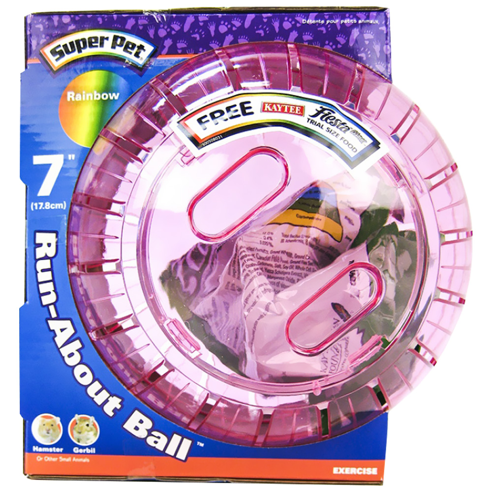 """SuperPet Hamster Run About Exercise Ball 7"""" Rainbow (Assorted)"""