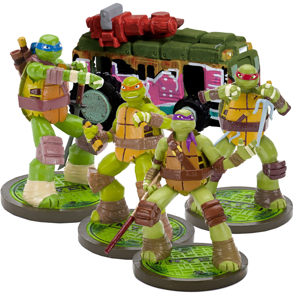 Teenage mutant ninja turtles april van aquarium for Aquarium decoration set