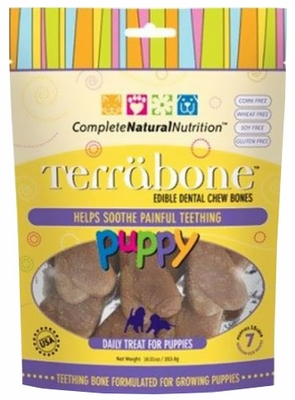 Terrabone Puppy Dental Chew Bones - Medium (7 count)