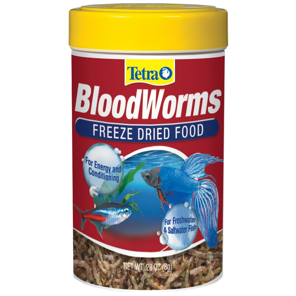 Tetra bloodworms freeze dried food oz for Betta fish for sale at walmart