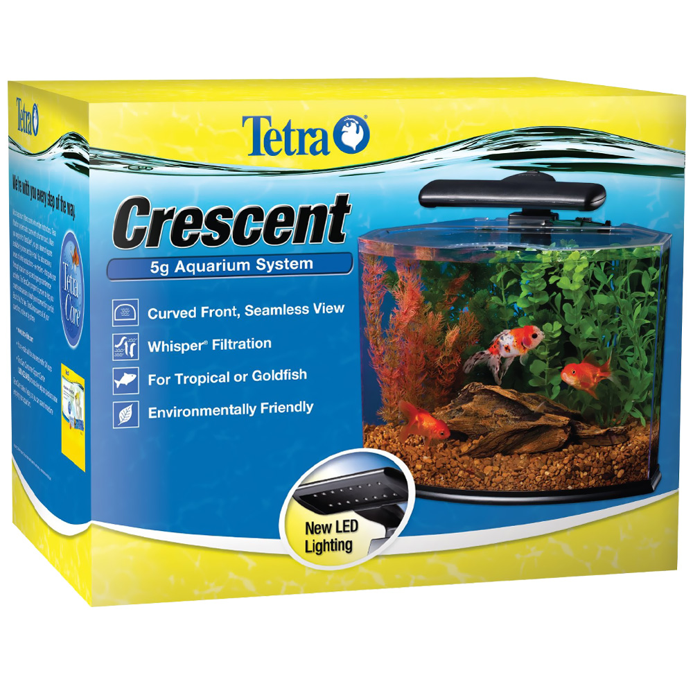 Tetra crescent 5g aquarium system kit 5 gal for Tetra fish tanks
