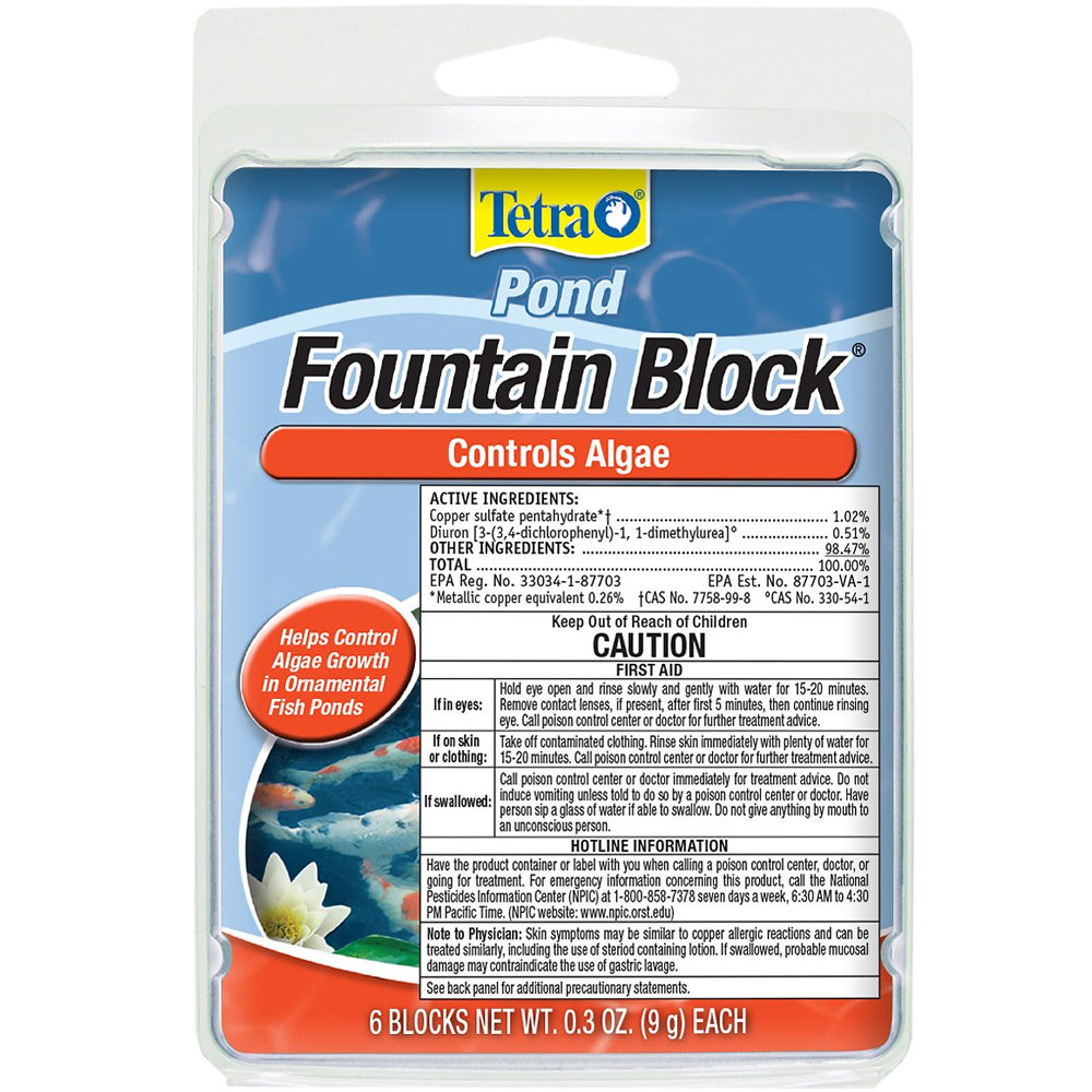 Tetra Pond Fountain Block - Controls Algae (0.3 oz)