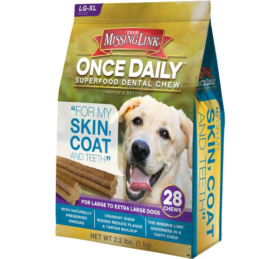The Missing Link Once Daily Skin & Coat for Large/XLarge Dog (28 count)