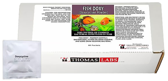 Thomas labs fish doxy 100mg doxycycline powder 60 packets for Fish antibiotics walmart