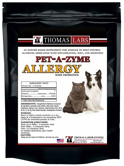 Thomas Labs Pet-A-Zyme Allergy Powder
