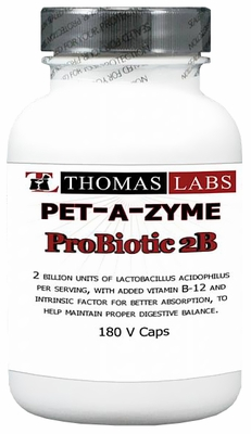 Thomas Labs Pet-A-Zyme Probiotic 2B (180 vcaps)