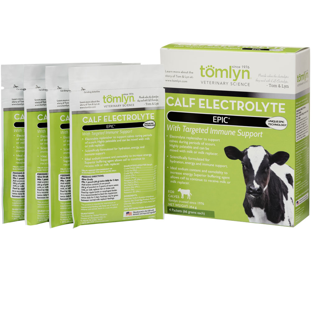 Tomlyn Epic Calf Electrolyte Pouches (4x66 gm)