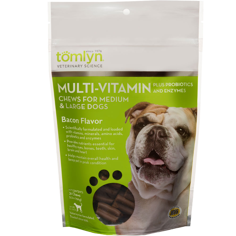 Tomlyn Multi-Vitamin Chews for Medium & Large Dogs (30 count)