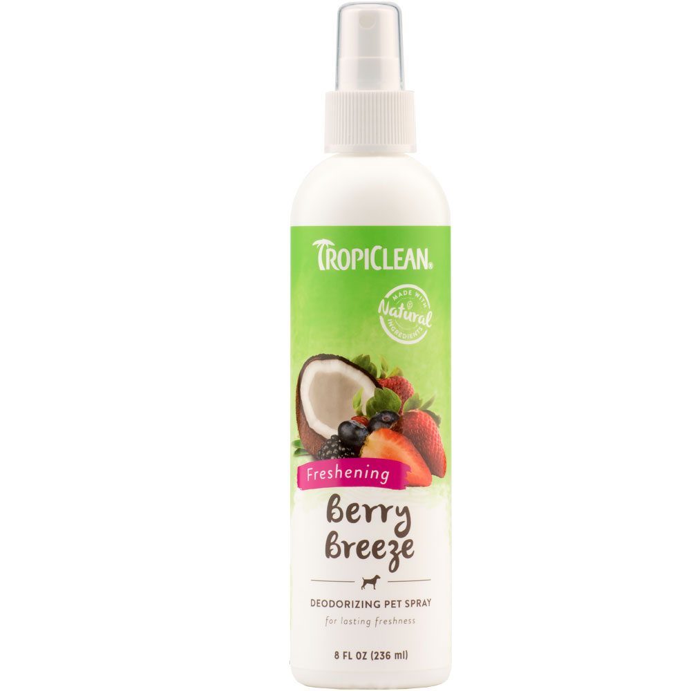 TropiClean Berry Breeze Deodorizing Pet Spray (8 fl oz)