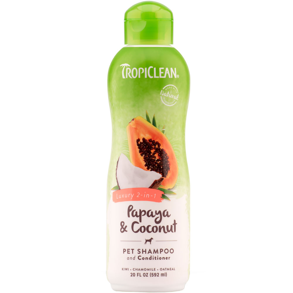 Tropiclean Luxury 2-in-1 Papaya & Coconut Shampoo (20 oz)