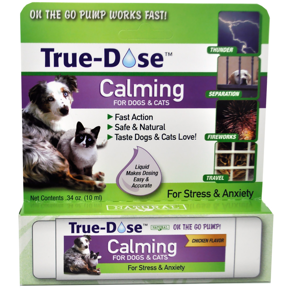 true dose calming for dogs cats 10 ml. Black Bedroom Furniture Sets. Home Design Ideas