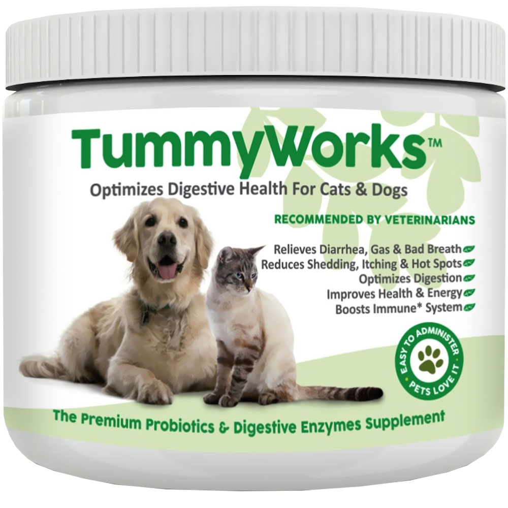 tummyworks probiotics digestive enzymes supplements for cats dogs 160 scoops. Black Bedroom Furniture Sets. Home Design Ideas