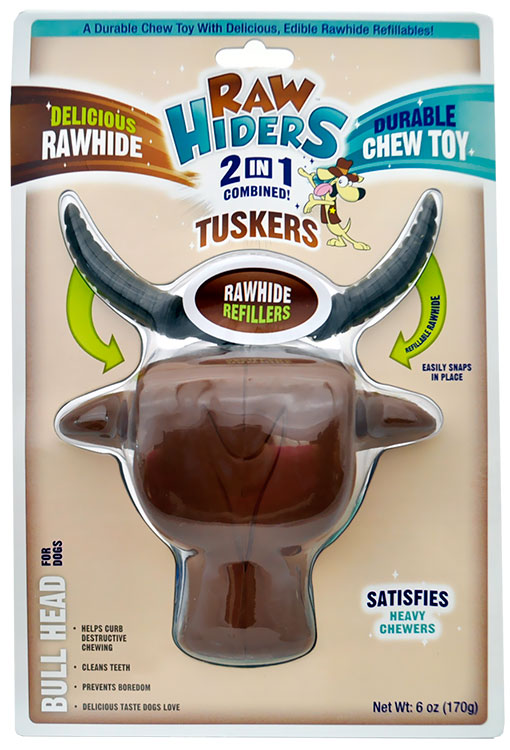 Tuskers Bull Head Chew Toys for Dogs