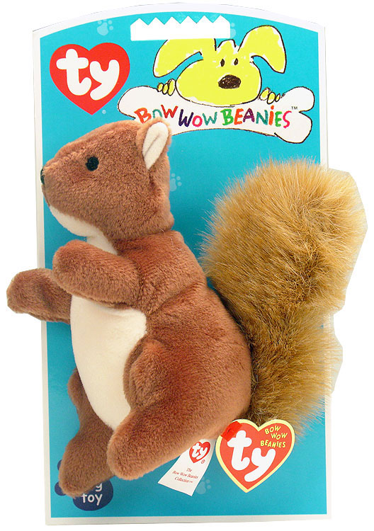 Ty Bow Wow Beanies Nuts the Squirrel Baby