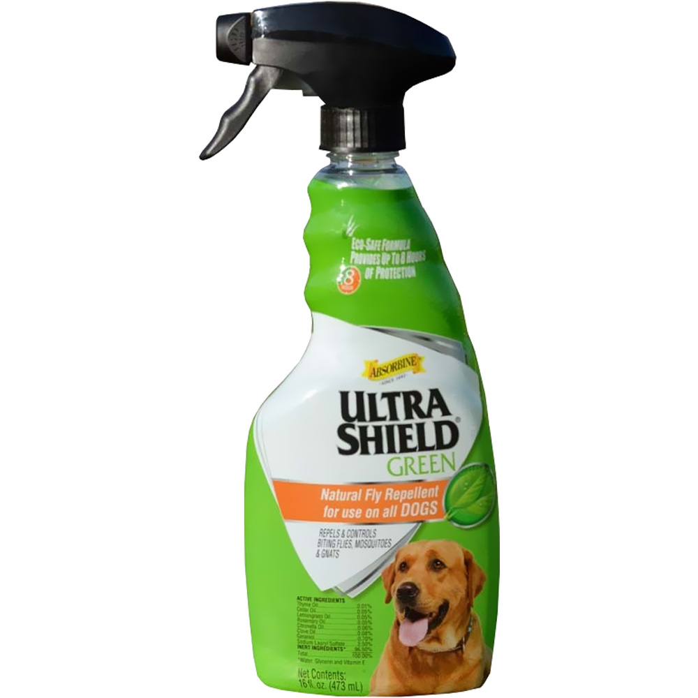 UltraShield Green Natural Fly Repellent Spray for Dogs (16 fl oz)