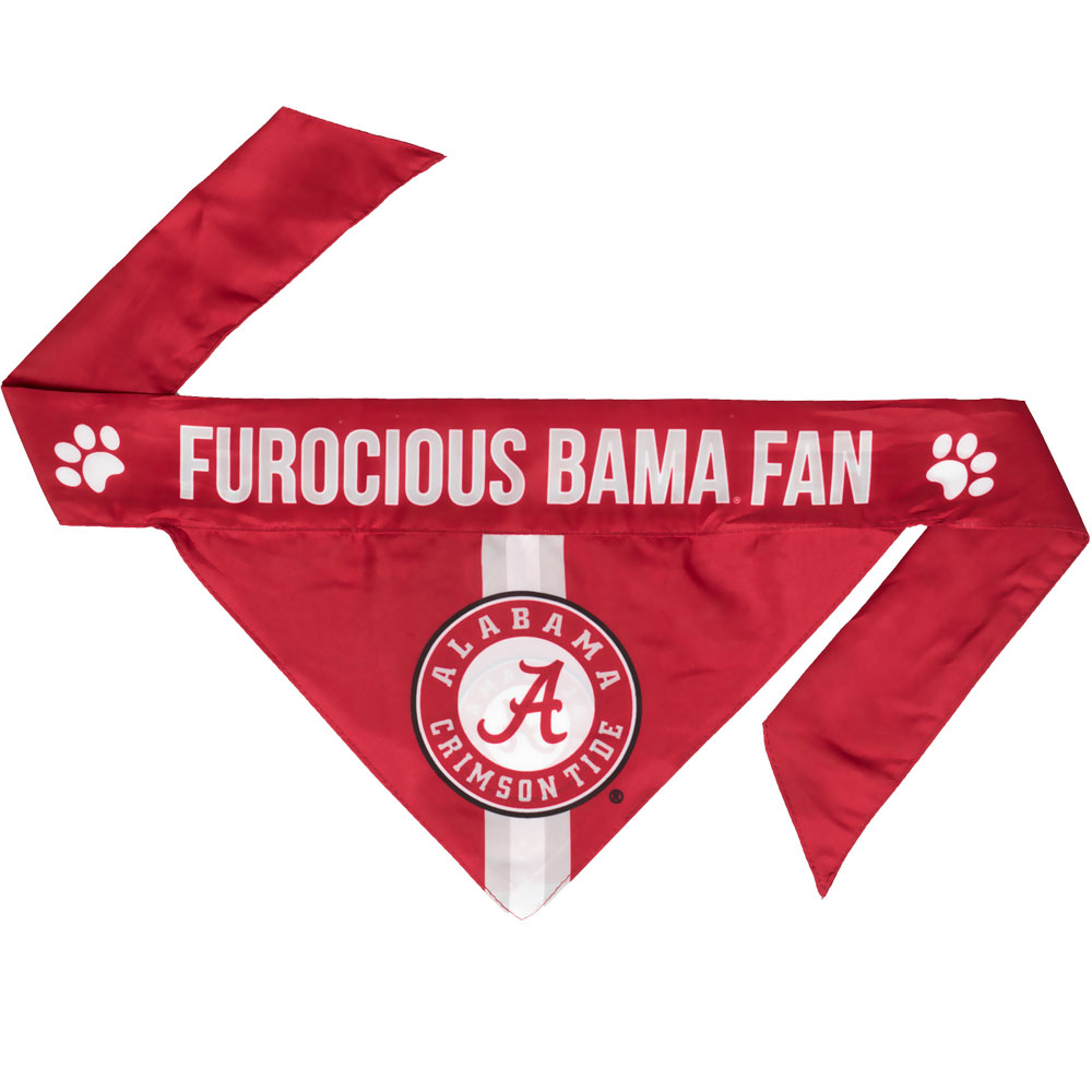 University of Alabama Dog Bandana - Tie On (Large)