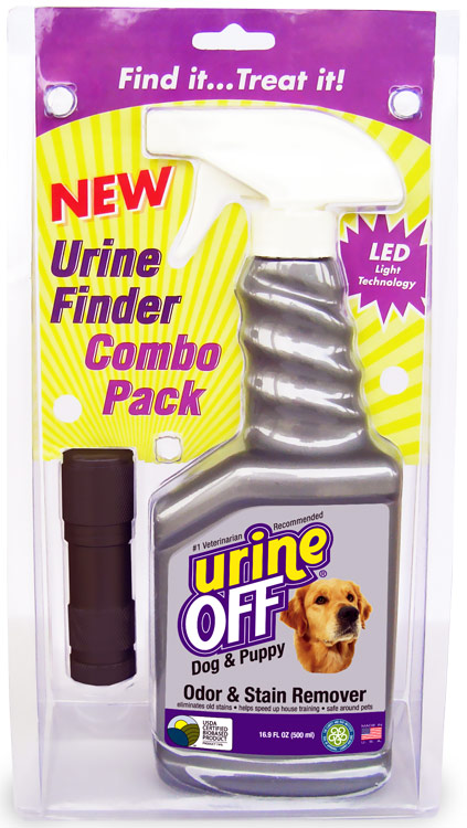 Urine Off Odor & Stain Remover FOR DOGS (500 ml) + UV Light