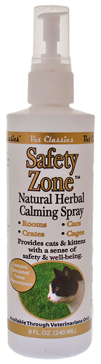 Vet Classics Safety Zone Natural Herbal Calming Cat Spray (8 oz)