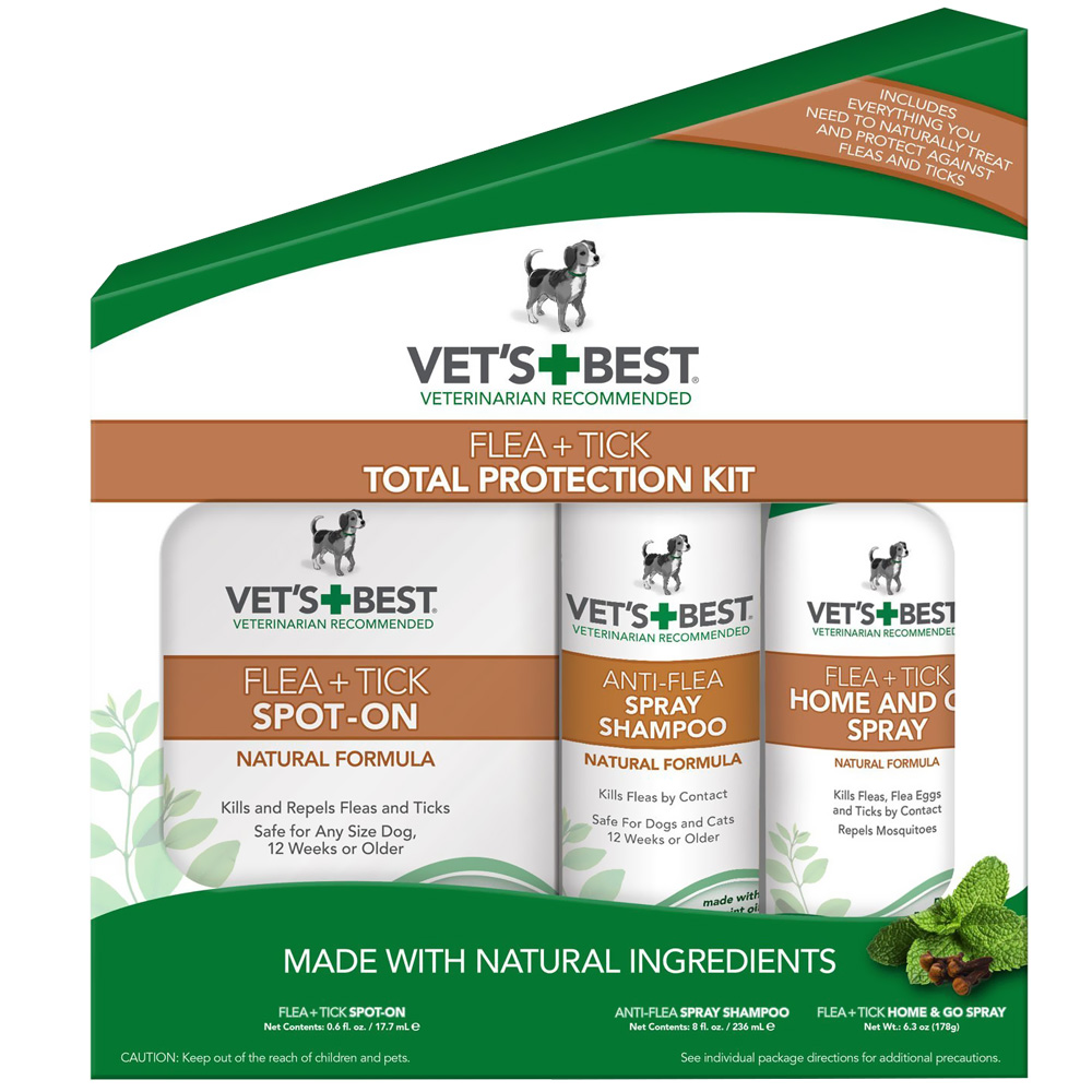 Vet's Best Flea + Tick Total Protection Kit (3-Piece)