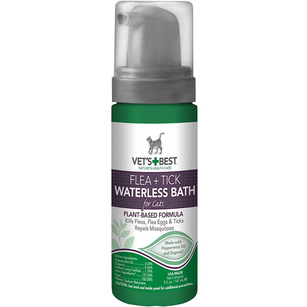 Vet's Best Flea & Tick Waterless Bath for Cats (5 fl oz)