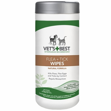 Vet S Best Natural Flea And Tick Wipes