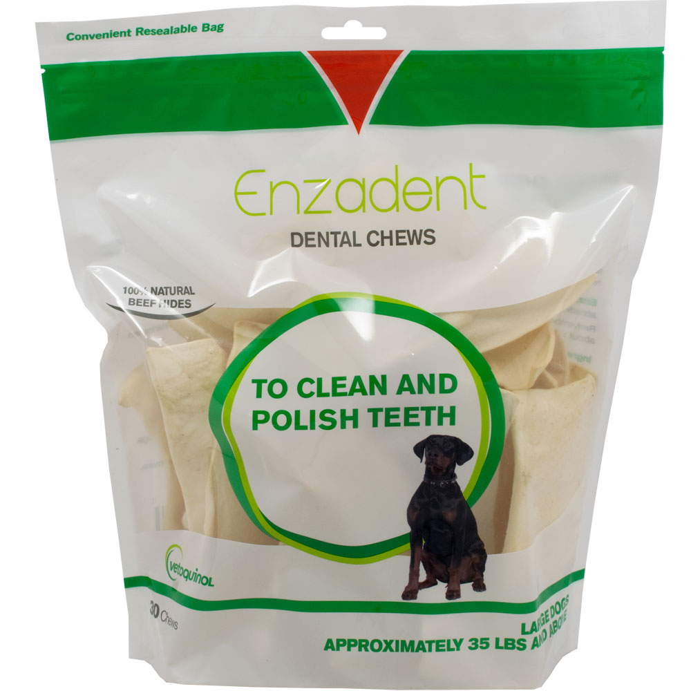 Vetoquinol Enzadent Dental Chews for Large Dogs (30 count)