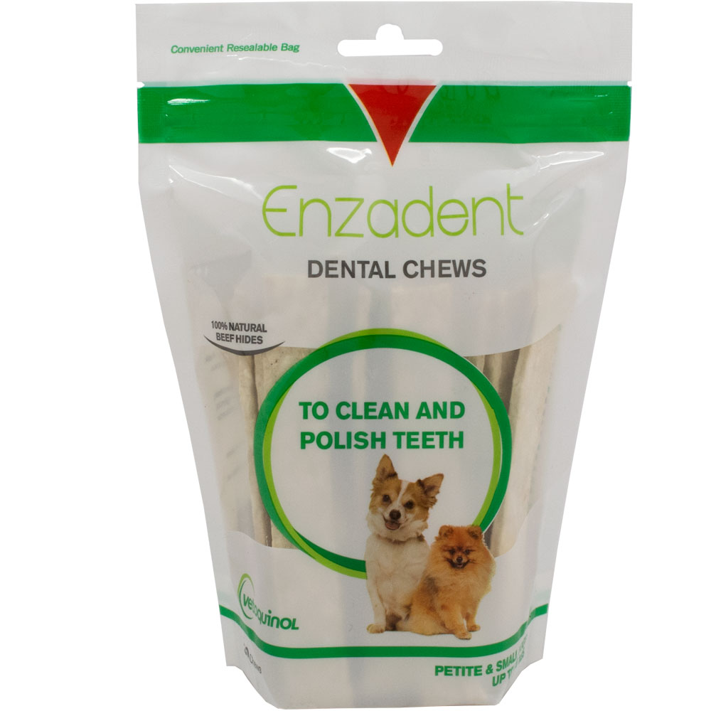 Vetoquinol Enzadent Dental Chews for Small Dogs (30 count)