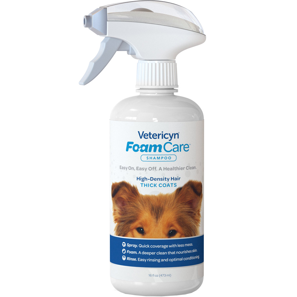 Vetericyn FoamCare Shampoo for Pet with Thick Coats (16 fl oz)