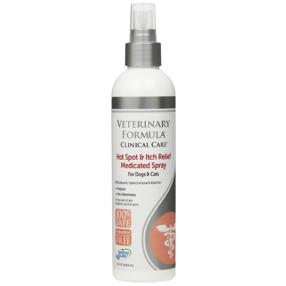 Veterinary Formula Clinical Care Hot Spot & Itch Relief Medicated Spray Dogs & Cats (8 fl oz)