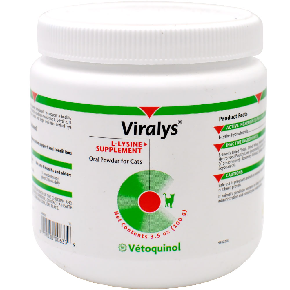 VETOQUINOL-VIRALYS-LYSINE-FOR-CATS-POWDER-100-GRAMS