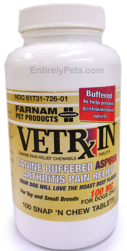 Vetrin Chewable Canine Aspirin - 100 mg (100 Tablets)
