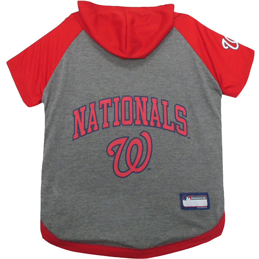 Washington Nationals Dog Hoody Tee Shirt - Large