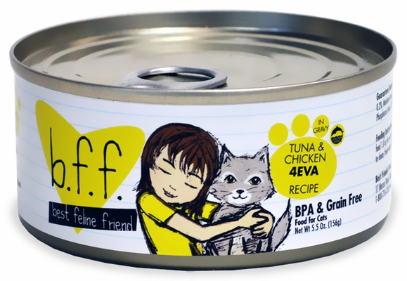 Weruva Best Feline Friend Canned Cat Food, Tuna and Chicken 4Eva Recipe (5.5 oz)