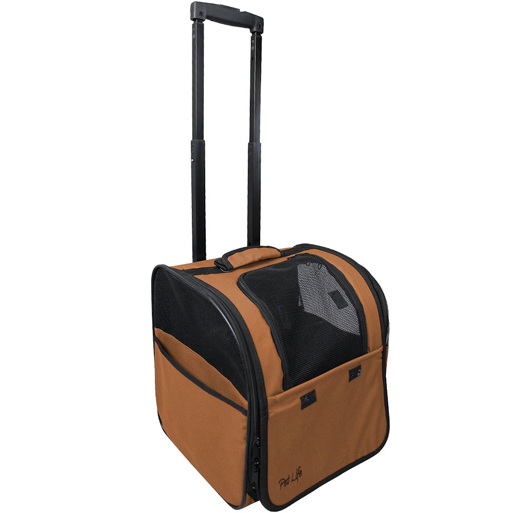 Wheeled Travel Pet Carrier - Brown