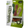 Whimzees Toothbrush Dental Dog Treats - X-Small (48 count)
