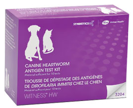 WITNESS HW Heartworm Canine/Feline Antigen Test Kit  (10 tests)