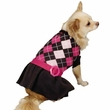 Zack & Zoey Argyle Prep Sweater Dress Pink - X-SMALL
