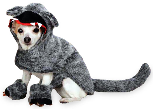 Zack & Zoey Big Bad Woof Costume Grey - XSMALL