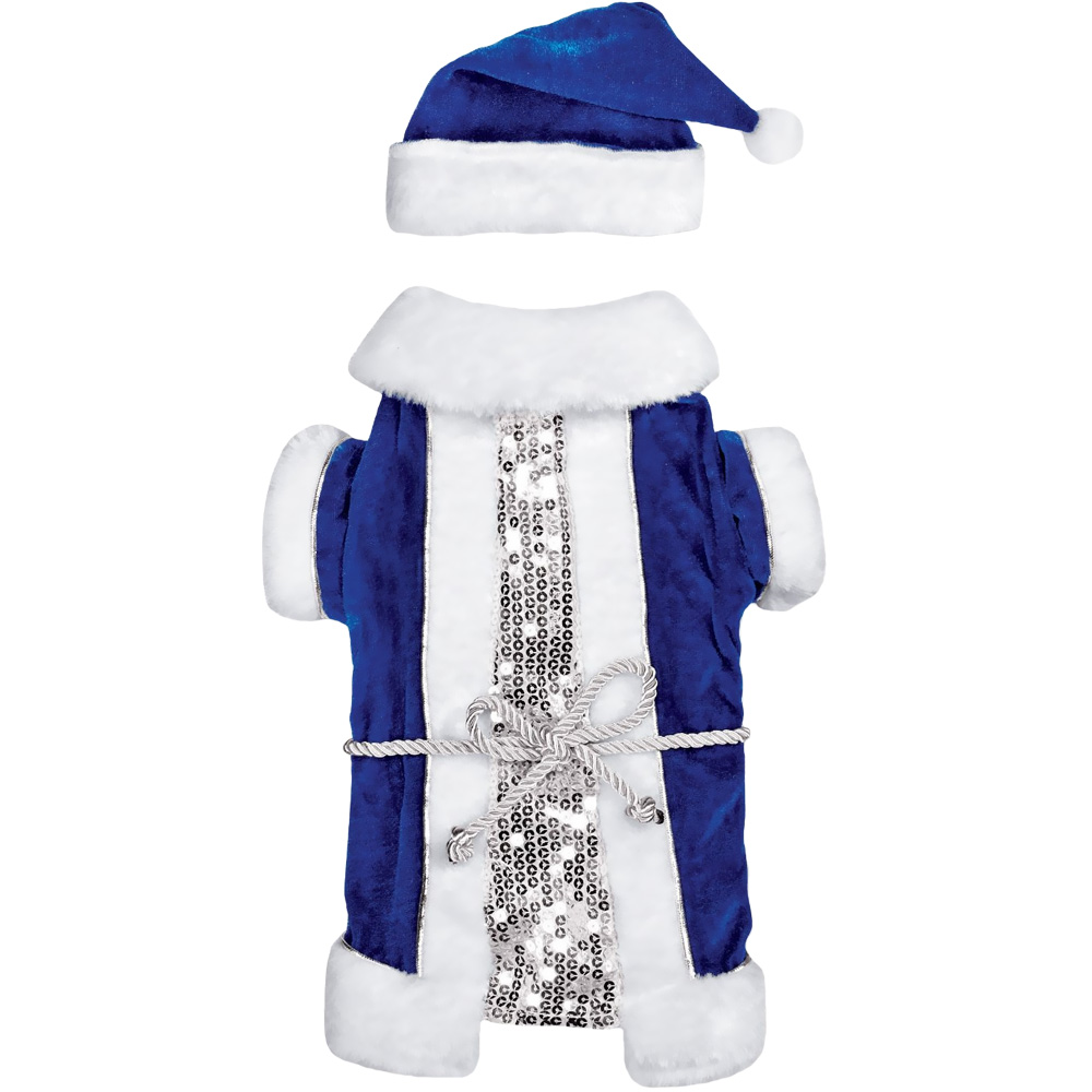 Zack & Zoey Blue Vintage Santa Set - Small
