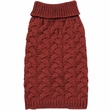 Zack & Zoey Elements Chunky Cable Sweater - Red (Medium)