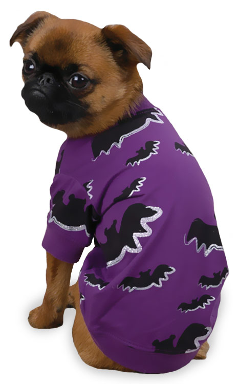Zack & Zoey Halloween Bat Tee - Purple