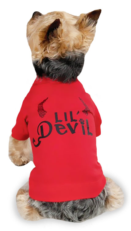 "Zack & Zoey Halloween Lil' Devil Tee Red - XS (10"")"