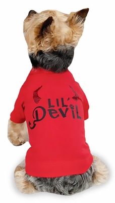 "Zack & Zoey Halloween Lil' Devil Tee Red - XXS (8"")"